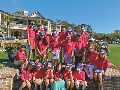 Participants in the 2018 session of Girls Golf took a field trip to watch professional golfers play in the RBC Heritage at Harbour Town on Hilton Head Island. COURTESY LPGA-USGA GIRLS GOLF