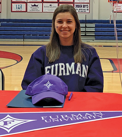 Sophia Burnett, a senior at Hilton Head Preparatory School, recently signed with Furman University. SUBMITTED