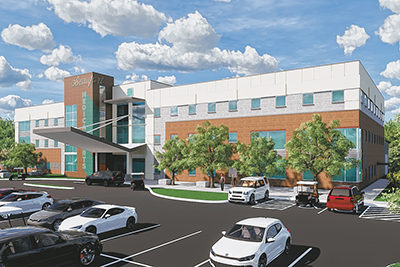 Artist rendering of the new Beaufort Memorial medical office building which is scheduled to open near Okatie Crossing next year. The facility is built in partnership with MUSC Health, and physicians from both hospitals will see patients there. COURTESY BE