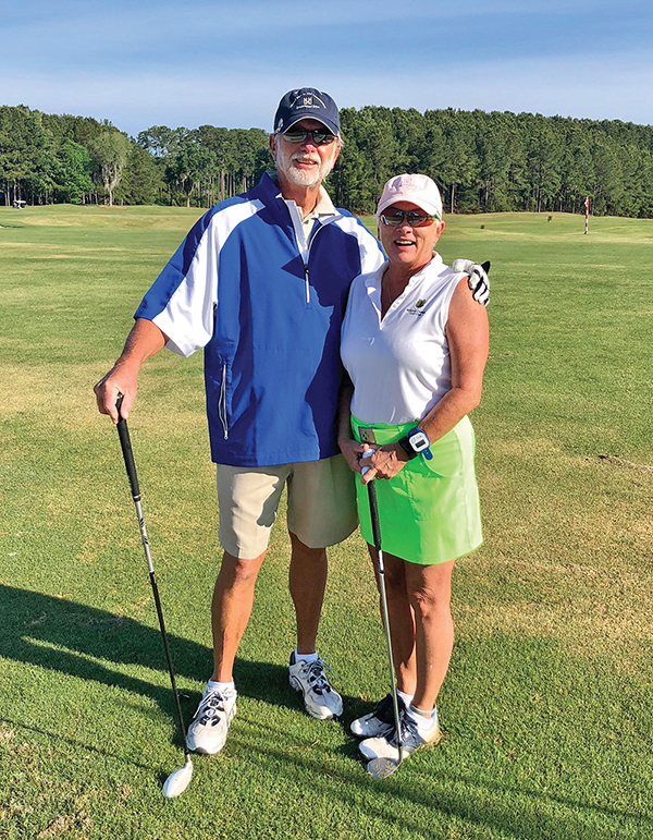 Jerry and Cyndi Whalen are senior golfers and good sports who live and play golf in Sun City. JEAN HARRIS