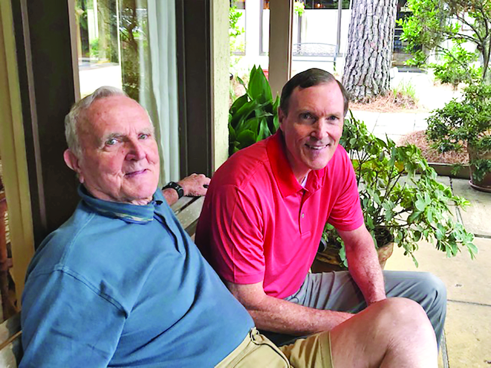 Joe Agee Sr. chats with his son, Joe Agee Jr SUBMITTED