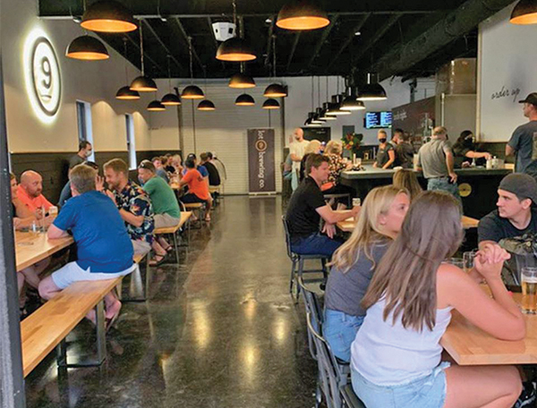 Opening night at Lot 9 brewing co. gave guests a taste of several beers on tap. SUBMITTED