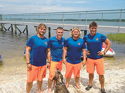 From left are brothers Elliot, Steve, Neil and Jared Turner, who teamed up to start Sea Monkeys Watersports in 2010. SUBMITTED