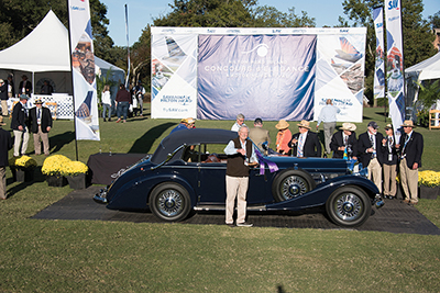 1938 Mercedes named best of 18th annual Concours