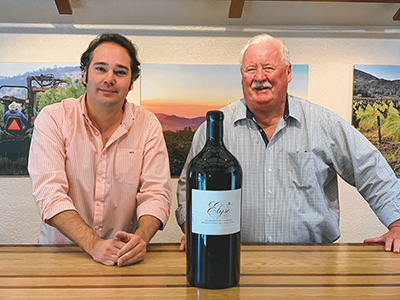 Josh Peeples, left, recently purchased the Elyse Winery from Ray Coursen, right, who founded the winery with his wife, Nancy, in 1987. COURTESY ELYSE WINERY