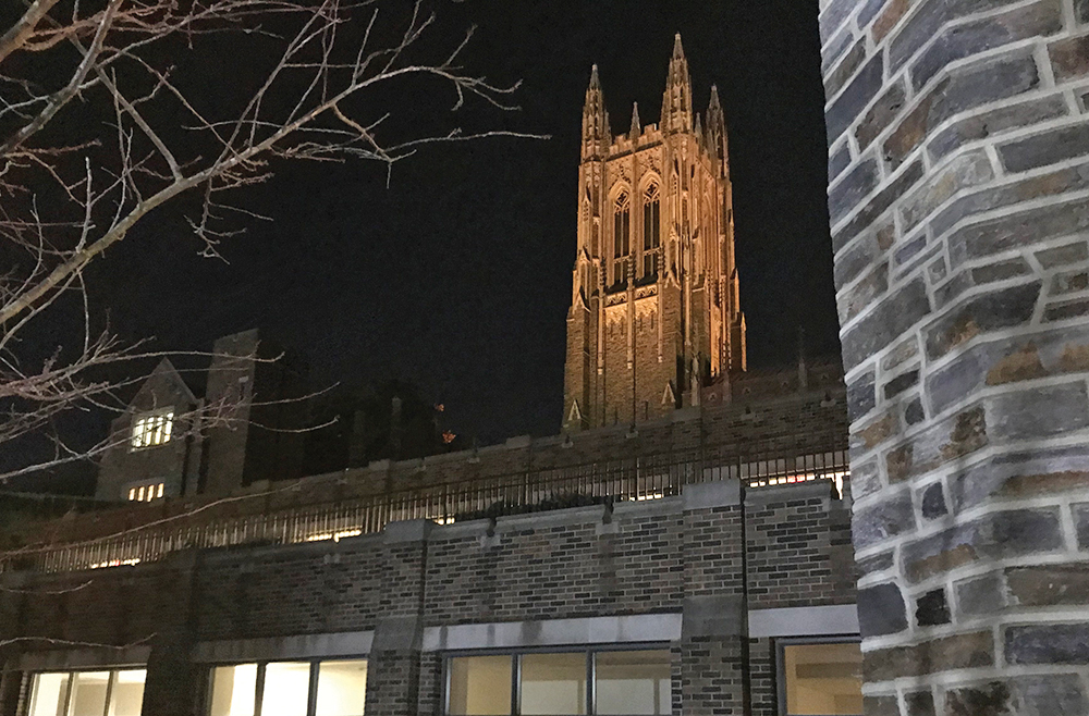 The campus of Duke Divinity School was a serene gathering place for local pastors. PETE BERNTSON