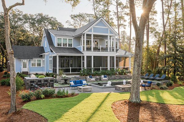 The rear of the 2020 HGTV Dream Home in Windmill Harbour on Hilton Head Island is just as lovely as the front. COURTESY HGTV