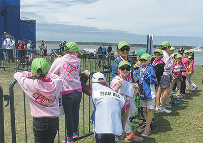 Members of the Girls Golf LPGA group attend the RBC Heritage at Harbour Town each year to learn from watching the pros play. JEAN HARRIS