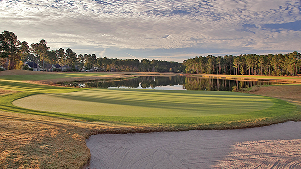 Hole No. 18 at Pinecrest Golf Club is one of its most picturesque, and one of the best holes in the Lowcountry. COURTESY PINECREST GOLF CLUB