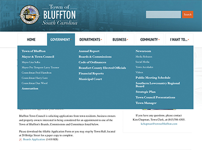 Applicants sought for Bluffton Town Council committees