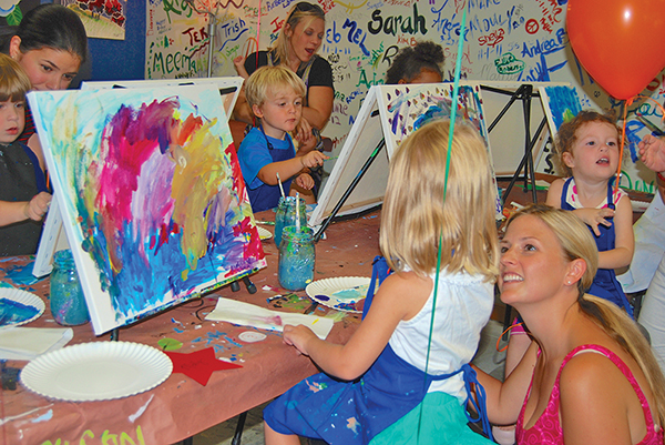 For her daughter's third birthday several years ago, Libby O'Regan planned an art-themed party that including painting time and palette-shaped cookies. SUBMITTED