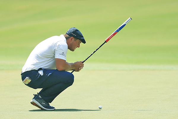 Bryson DeChambeau lines up his putt during the recent RBC Heritage tournament played in June at Harbour Town Golf Links on Hilton Head Island. COURTESY HERITAGE CLASSIC FOUNDATION