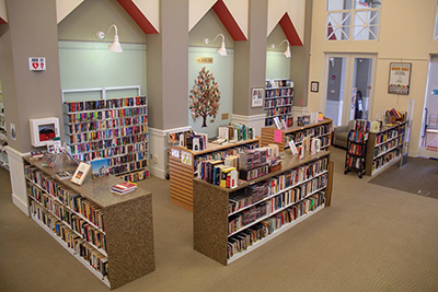 The Friends of the Bluffton Library Book Corner is located near the front door of the Bluffton Branch Library.