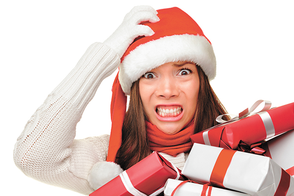 Even if energy is high, holiday stress makes skin look tired