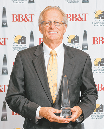 Allen Patterson of Allen Patterson Residential was named 2018 Premier Builder of the Year by the Hilton Head Area Home Builders Association at its Nov. 9 gala. COURTESY HILTON HEAD HBA