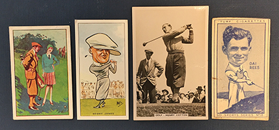 These golf cards were among the many in Jack's collection. The cards were inserted in tobacco packs in the 1930s.