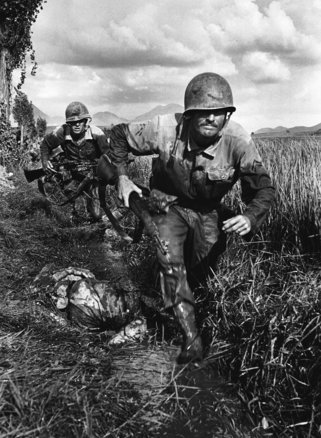 1%29 marines advance into enemy fire during the korean war  1950