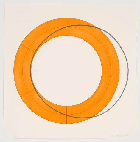 Robert Mangold, Ring B, Orange, 2010