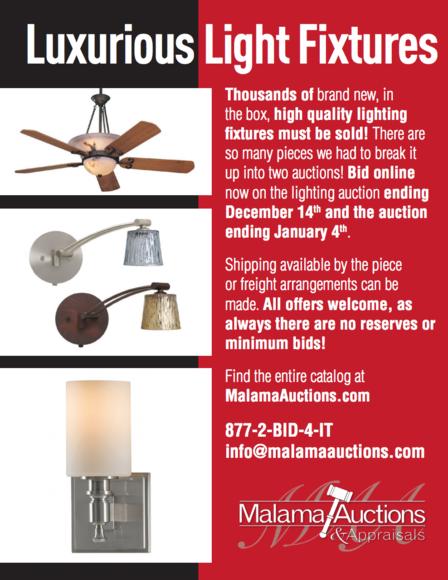 01/04 Premium Lighting Surplus Auction