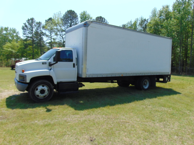 GMC 7500 Box Truck, Tools and Wood Inventory Auction