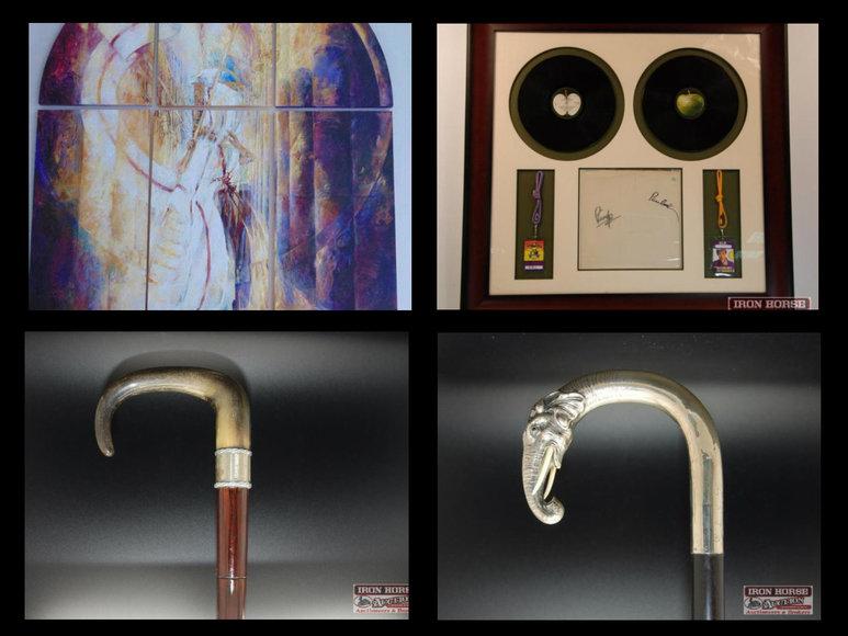 Antique Canes, Beatles Autographed Memorabilia, Rolling Stones Autographed Memorabilia and Artwork