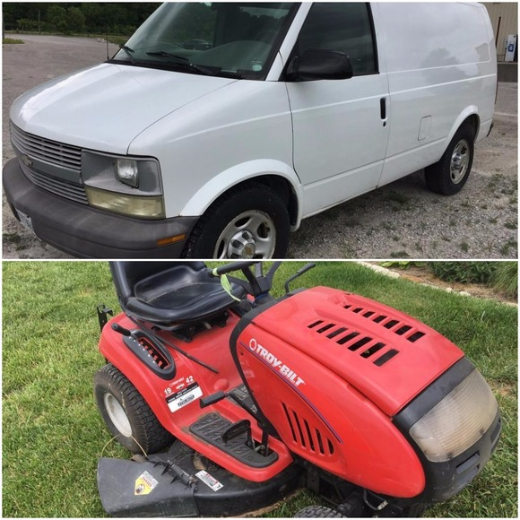 Chevy Van & Toro Mower