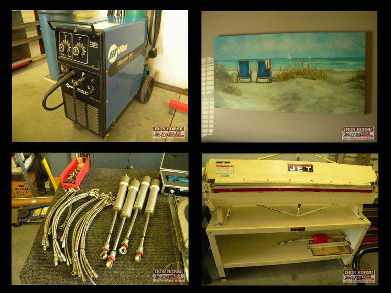 Tools, Auto Parts, Racing Memorabilia, Household Items