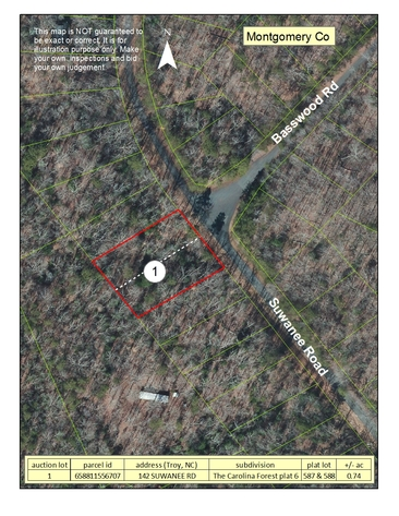 Bankruptcy Auction of Residential Lots in North Carolina and Virginia