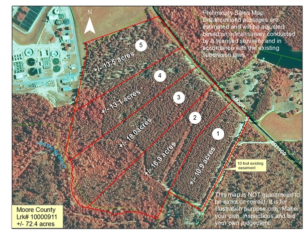 72.4+/- Acres Located in Moore County, NC