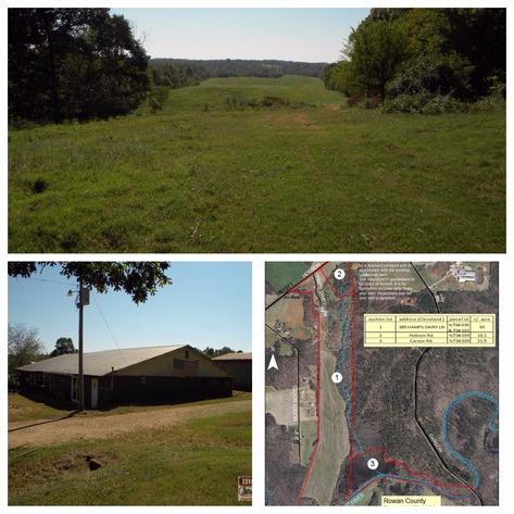 124.5+/- Acres with Home, Cropland, Buildings and Milking Equipment in Rowan County, NC