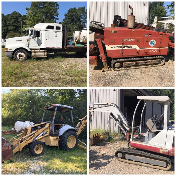 Auction of Working Drills, Backhoes, Excavators, Heavy Trucks, Pickup Trucks, Trailers, Tools and Equipment