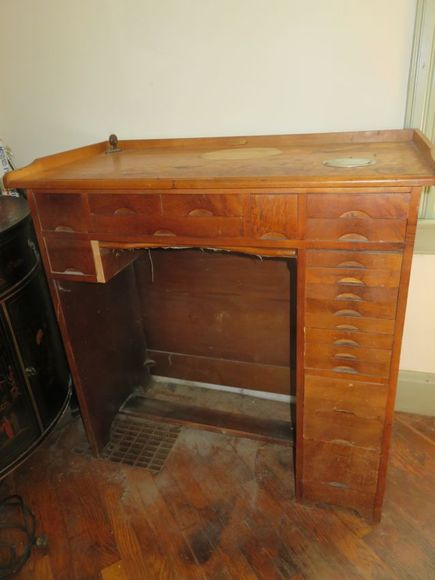 Firehouse Gaslamp/ early 1800's Furniture/ Watchmaker's Bench & Tools and More!