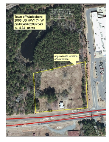 4.34+/- Acres w/ Frontage on Highway 74 in Wadesboro, NC