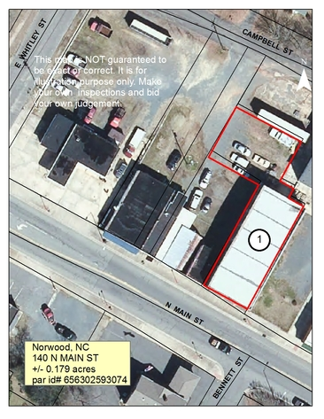 Commercial Buildings and Vacant Lots in Stanly County, NC
