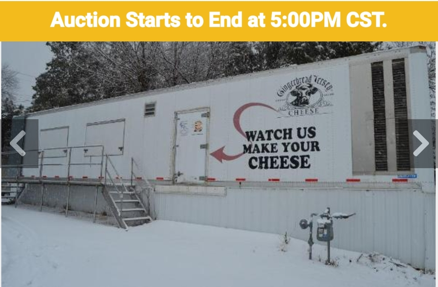 ​​​​​​​Cheese on Wheels Cheese Plant - EBR Cheese Curd Mill - Cheese Forms & Store Equipment