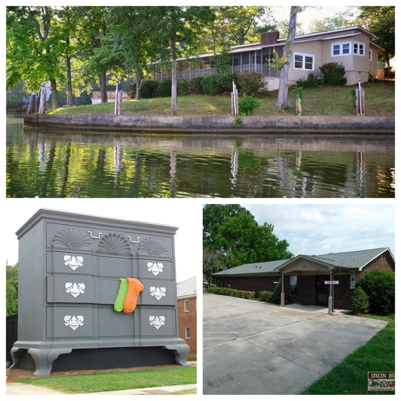 Lake Tillery Waterfront House, Commercial Buildings, 27+/- Acres and Residential Lot In Carolina Forest