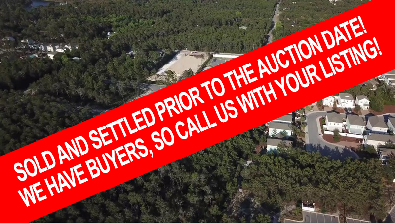 Court Ordered Auction – 8 Lots at Inlet Beach Florida