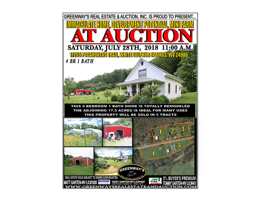 Deer lick springs auction can