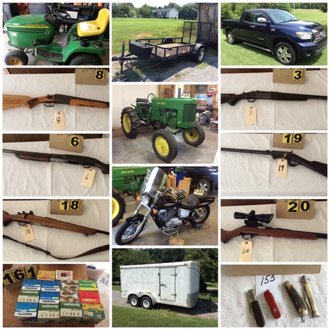 Equipment, Firearms, Vehicles & Tools - Online Only