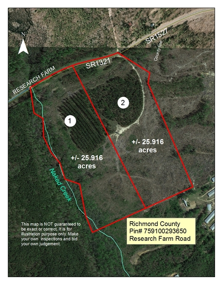Richmond County Nc Map.51 Acres And House In Richmond County Nc Iron Horse Auction