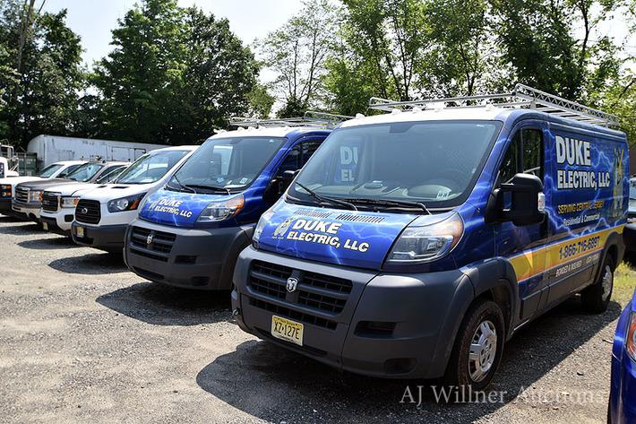 Late Model Cargo Vans, Pick Up Trucks & Electrical Contractor Equipment