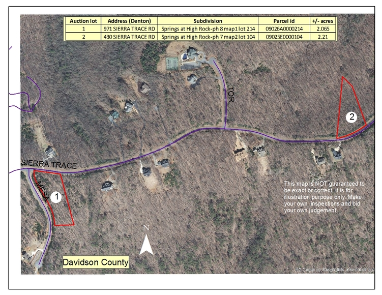 2 Residential Tracts In Denton Nc Iron Horse Auction