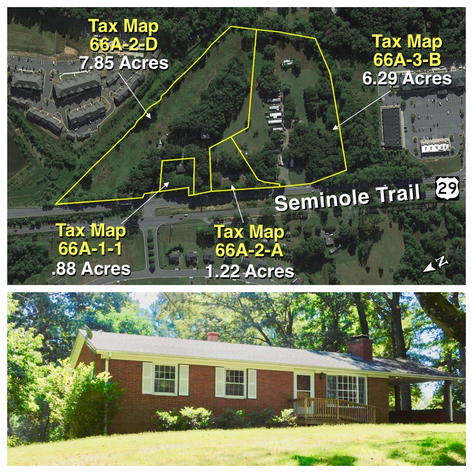 1,400' +/- of Rt. 29 Frontage!!  16.24 +/- Acres Offered in 2 Parcels:  .88 +/- Acres w/5 BR/3 BA Home and 15.33 +/- Acres w/Mobile Home Park, Former Motel & Outbuildings.  Selling to the Highest Bidder Regardless of Price!!
