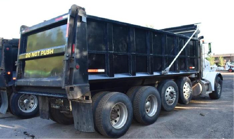 2005 & 2007 Peterbilt 357 Quad Axle Dump Trucks
