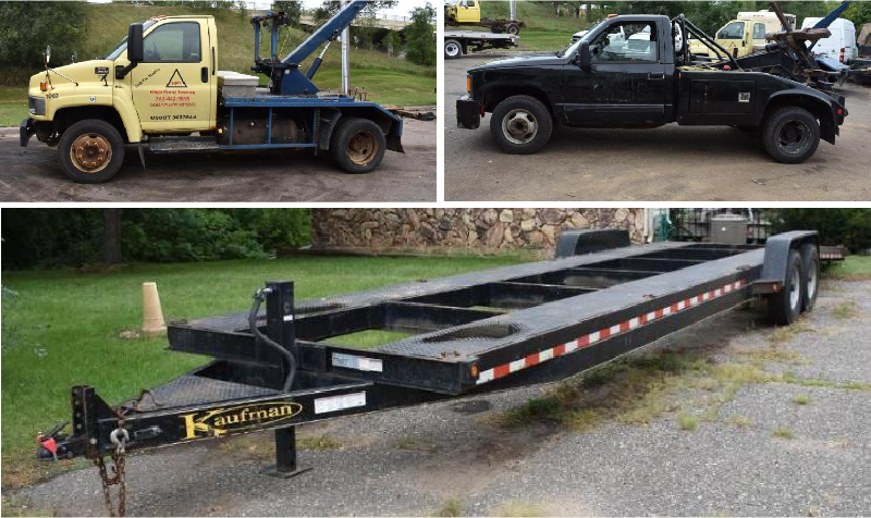 Towing Equipment, Vehicles & Shop Supplies