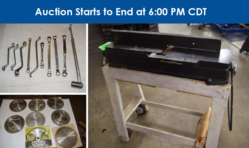 6/8 Tried & True Tools Retirement Auction