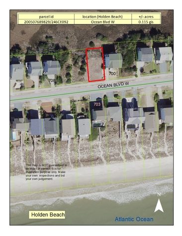 Oceanview Lot in Holden Beach, NC