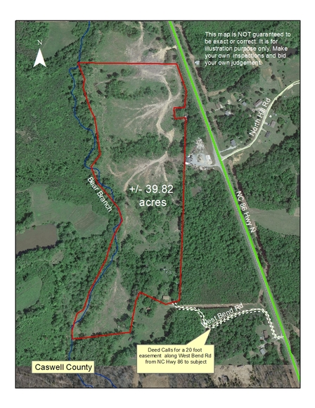 39.8+/- Acres Located in Yanceyville, NC