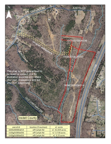 38.44+/- Acres Beside I-77 in Iredell County, NC
