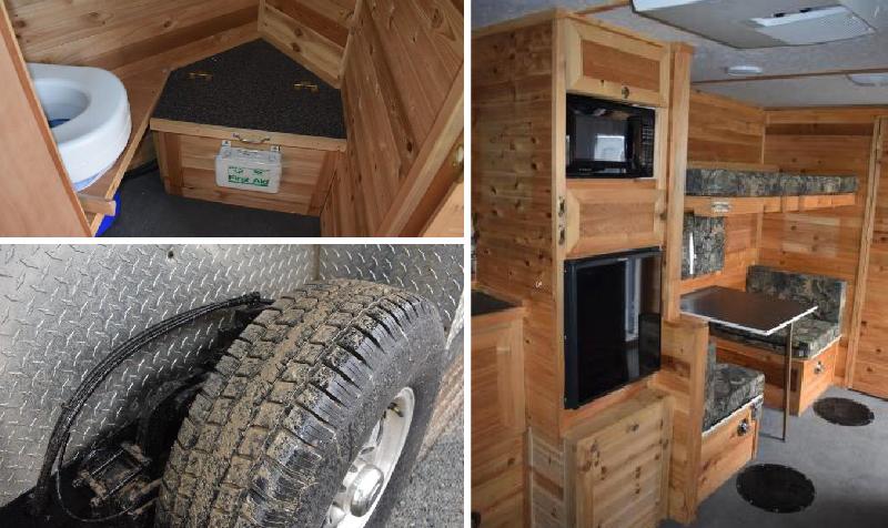 2011 Ice Castle 16' V American Eagle Drop Down Hydraulic Fish House